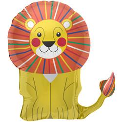 28''(71см) шар   фигура лев желтый
