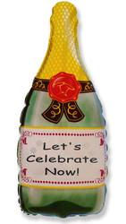 Шар 32'' (81см)  фигура     бутылка шампанского