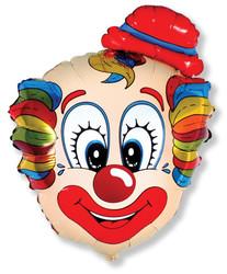 30''(76см) шар   фигура голова клоуна в