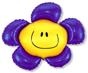 41''(104см) шар   фигура солнечная улыбка фиолетовый