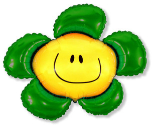 Шар 41'' (104см)  фигура     солнечная улыбка зеленый