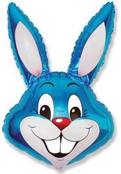 40''(106см) шар   фигура заяц синий