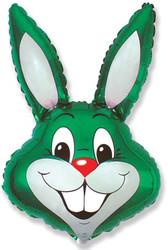 40''(106см) шар   фигура заяц зеленый