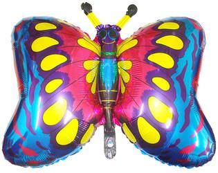 35''(88см) шар   фигура бабочка синий