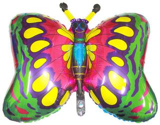 35''(88см) шар   фигура бабочка зеленый