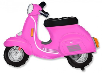 Шар 29'' (72см)  фигура     скутер розовый