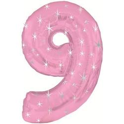 Шар 42'' (106см)  цифра      в упаковке розовый