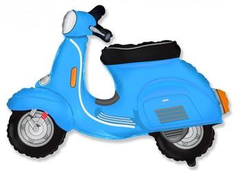 Шар 29'' (72см)  фигура     скутер голубой