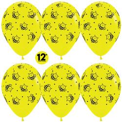 Шар 14'' (36см)     пчелки   пастель