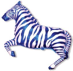 41''(104см) шар   фигура зебра синий