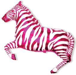 Шар 41'' (104см)  фигура     зебра фуше