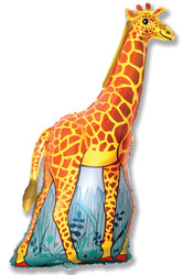 Шар 46'' (116см)  фигура     жираф оранжевый