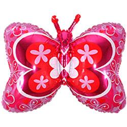 35''(88см) шар   фигура бабочка декор фуше
