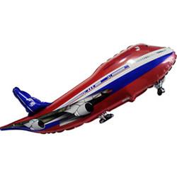 Шар 40'' (106см)  фигура     самолет красный