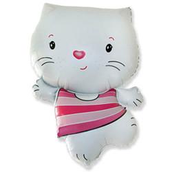 30''(76см) шар   фигура котенок белый