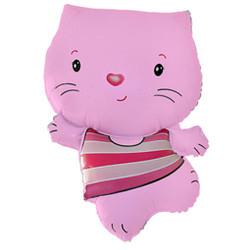 30''(76см) шар   фигура котенок розовый