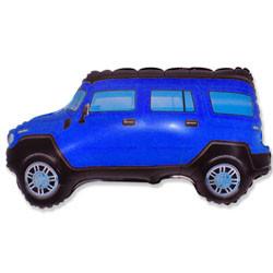 Шар 34'' (86см)  фигура     внедорожник синий