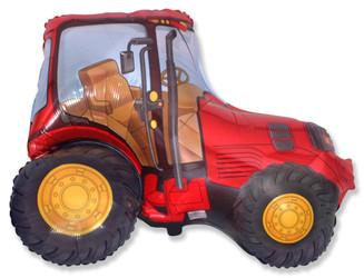 38''(96см) шар   фигура трактор красный