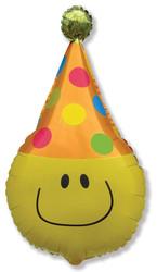 24''(60см) шар   фигура забавный клоун желтый