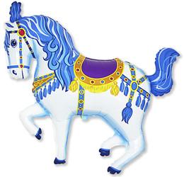 36''(91см) шар   фигура лошадь карусельная синий