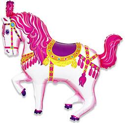 36''(91см) шар   фигура лошадь карусельная фуше
