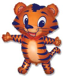 32''(81см) шар   фигура тигренок синий