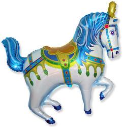 39''(99см) шар   фигура лошадь ярмарочная синий