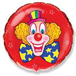 18''(45см) шар   круг клоун красный