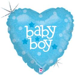 Шар 36'' (91см)  сердце     малышмальчик голубой