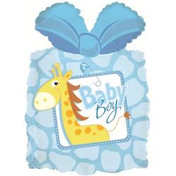Шар 28'' (71см)  фигура     подарок новорожденному мальчику голубой