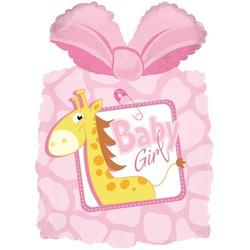 28''(71см) шар   фигура подарок новорожденной девочке розовый