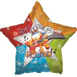 Шар 18'' (45см)  звезда     с днем рождения гарфилд рок