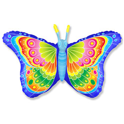 Шар 32'' (81см)  фигура     бабочка кокетка синий