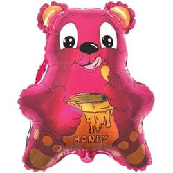 22''(55см) шар   фигура медведь с мёдом фуше