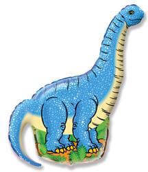 47''(119см) шар   фигура динозавр диплодок синий