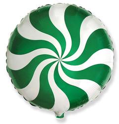 Шар 18'' (45см)  круг     леденец зеленый