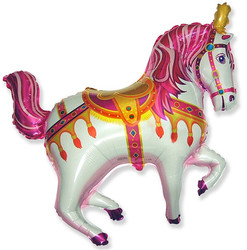 39''(99см) шар   фигура лошадь ярмарочная фуше