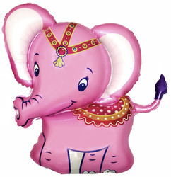 38''(96см) шар   фигура слоник розовый
