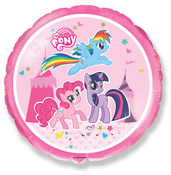18''(45см) шар   круг милая пони в цирке