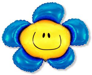 41''(104см) шар   фигура солнечная улыбка синий