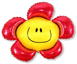 41''(104см) шар   фигура солнечная улыбка красный