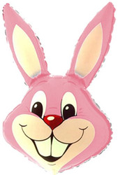40''(106см) шар   фигура заяц розовый