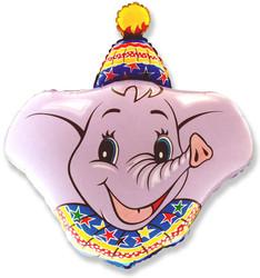 37''(93см) шар   фигура голова слона розовый