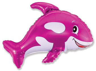 34''(86см) шар   фигура веселый кит фуше
