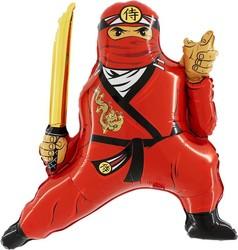Шар 32'' (81см)  фигура     ниндзя красный