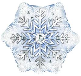 Шар 22'' (55см)  фигура     снежинка
