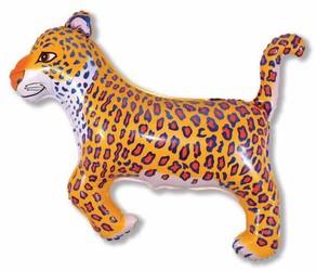37''(93см) шар   фигура леопард синий