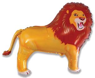 38''(96см) шар   фигура лев коричневый