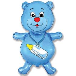 Шар 36'' (91см)  фигура     медвежонокмальчик синий