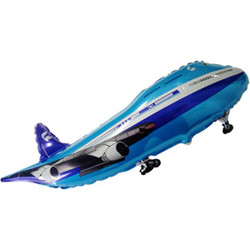 Шар 40'' (106см)  фигура     самолет синий
